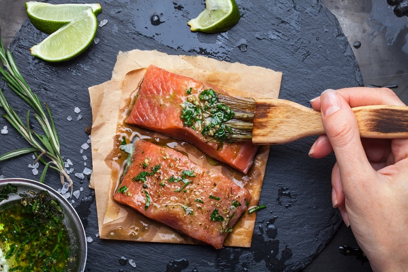 Salmone cotto a bassa temperatura