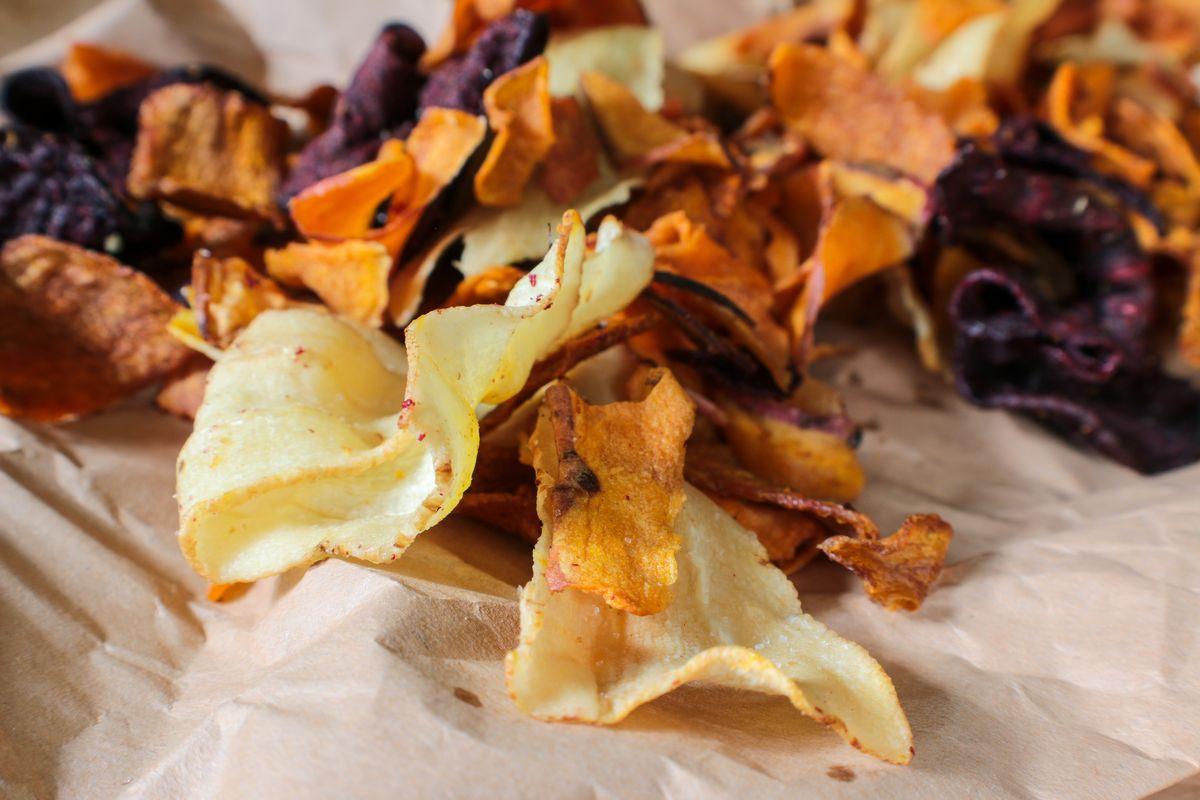 chips di verdura al forno