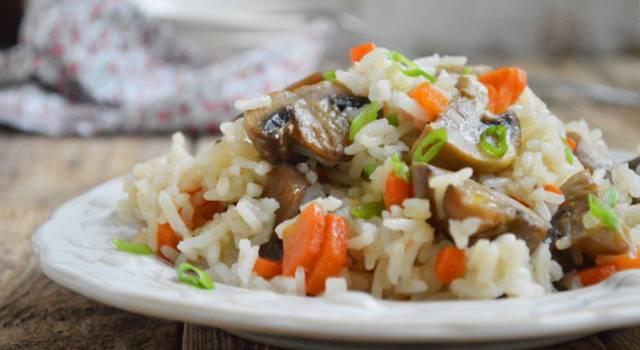 Risotto funghi e carote: delicato ma buonissimo!