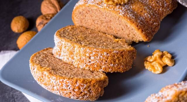 Come fare il plumcake di noci senza glutine