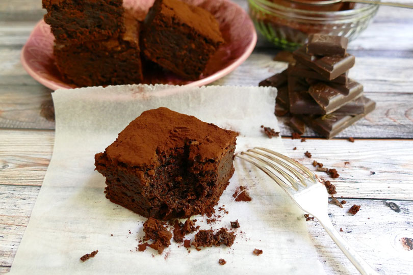 torta all'acqua al cacao