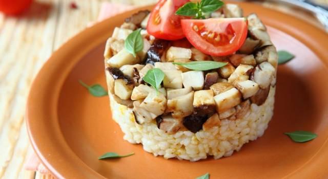 Tortini di riso ai funghi (per un primo piatto raffinato)