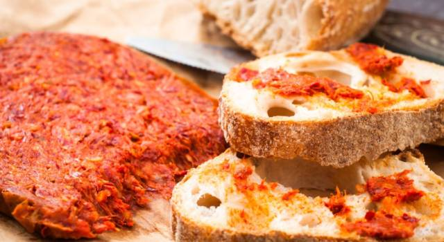Bruschette con la 'nduja (per palati forti)