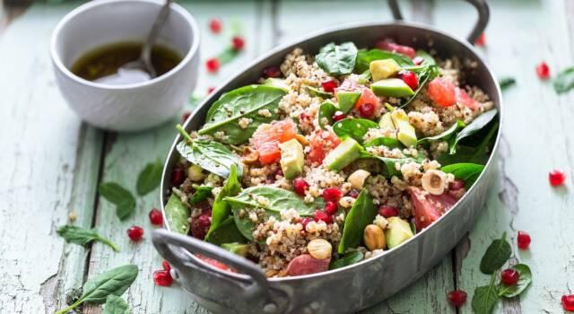 Cous cous d'autunno con frutta e verdura: ottimo come piatto unico!