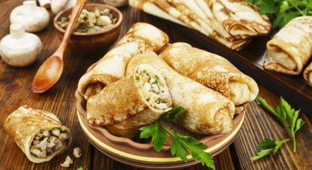 Crepes con farina di castagne: una ricetta particolare (con ripieno di funghi)!