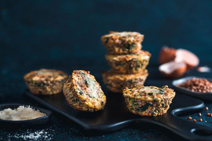 Muffin salati di grano saraceno