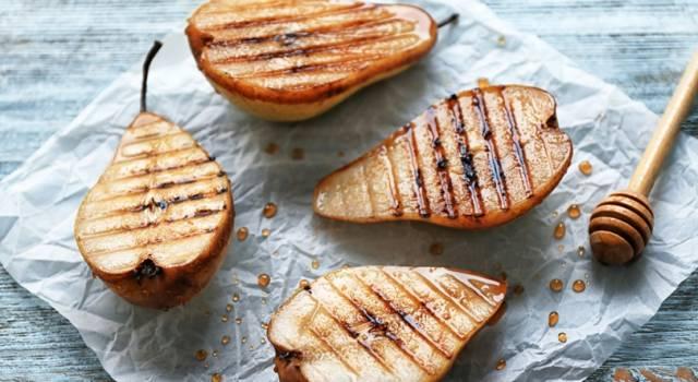 Pere alla griglia: una buonissima ricetta con frutta fresca!