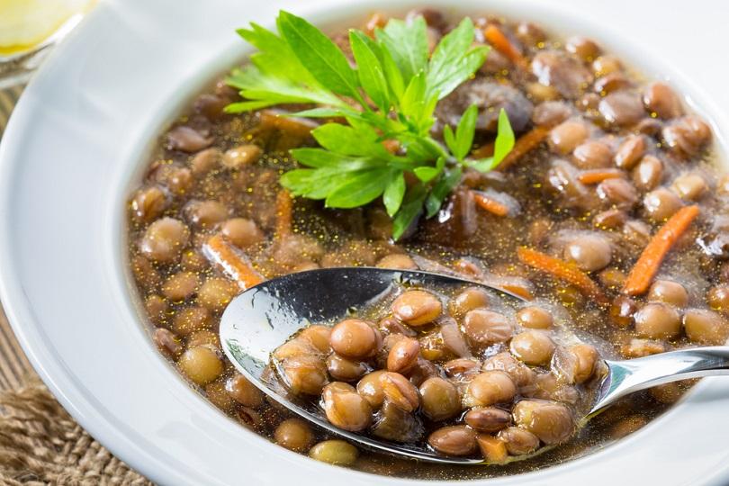 Zuppa di lenticchie e carote