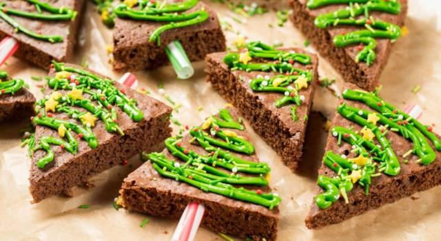 Alberelli di brownies: la ricetta di Natale