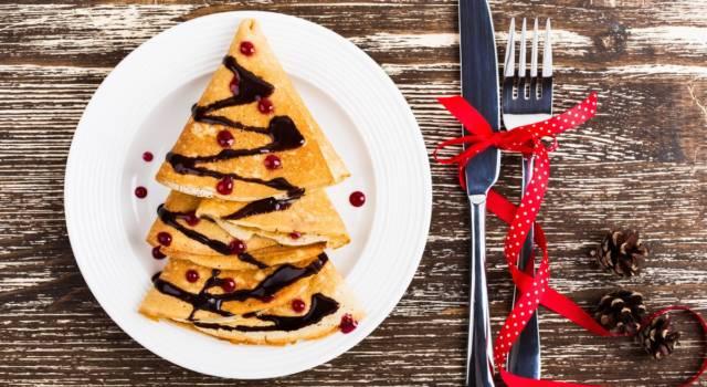 Un'idea originale per le Feste: l'albero di Natale di crepes