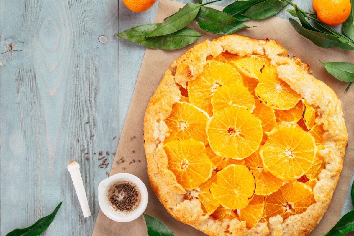 Crostata vegan arance e cacao