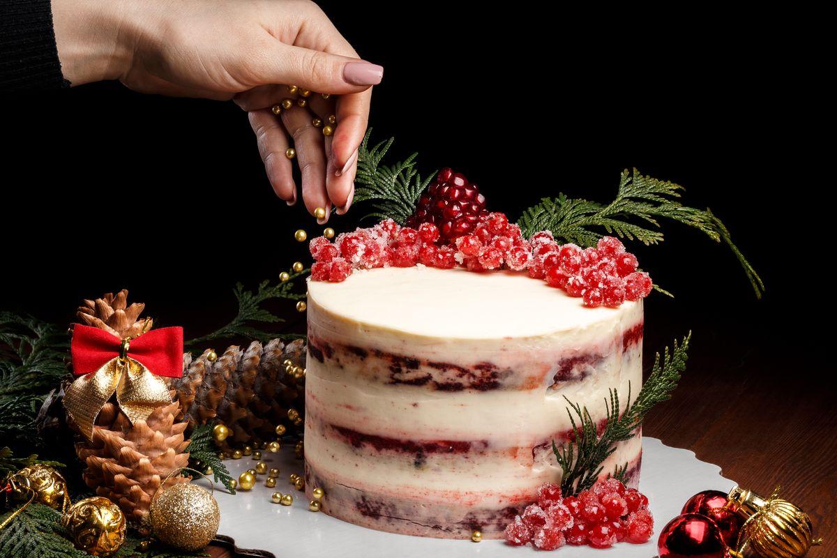 naked cake di Natale