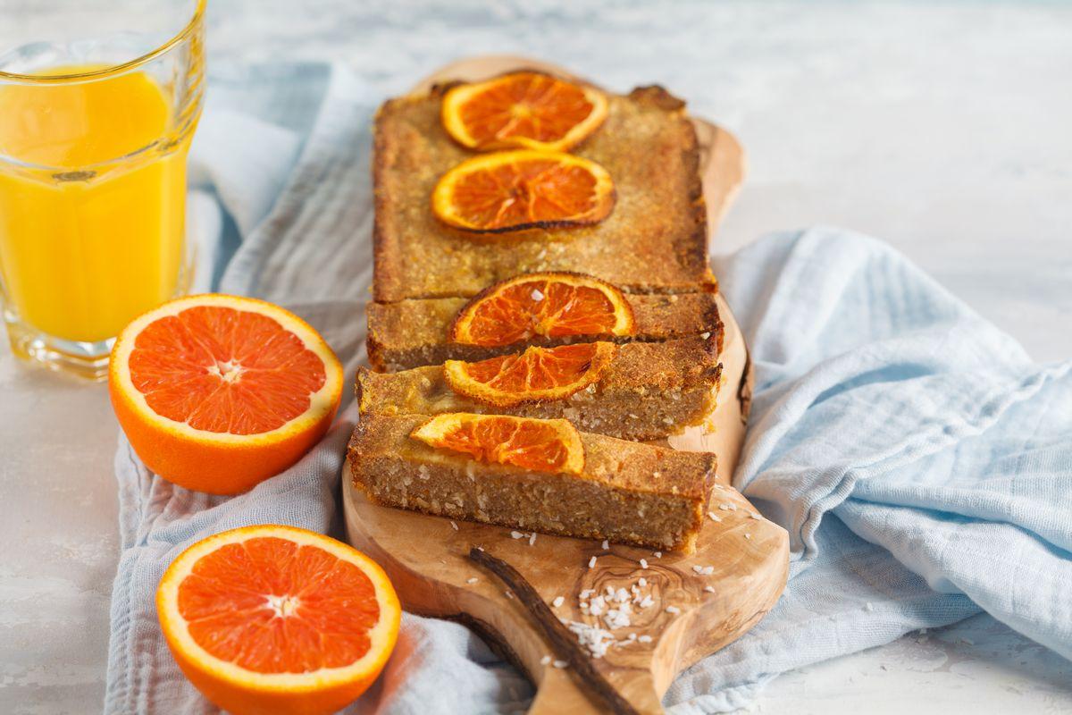 plumcake all'arancia e cocco