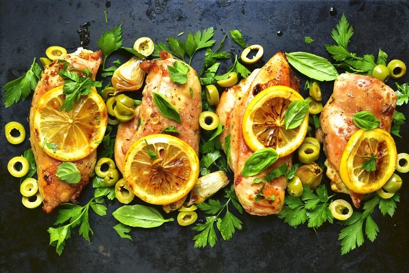 Pollo alla senape ed erbe aromatiche