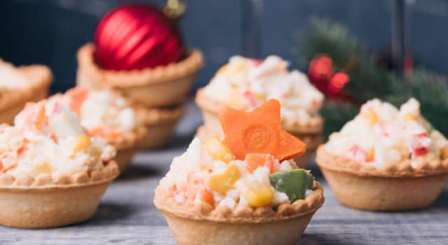 Tartine natalizie in guscio di pasta briseé: ecco come prepararle