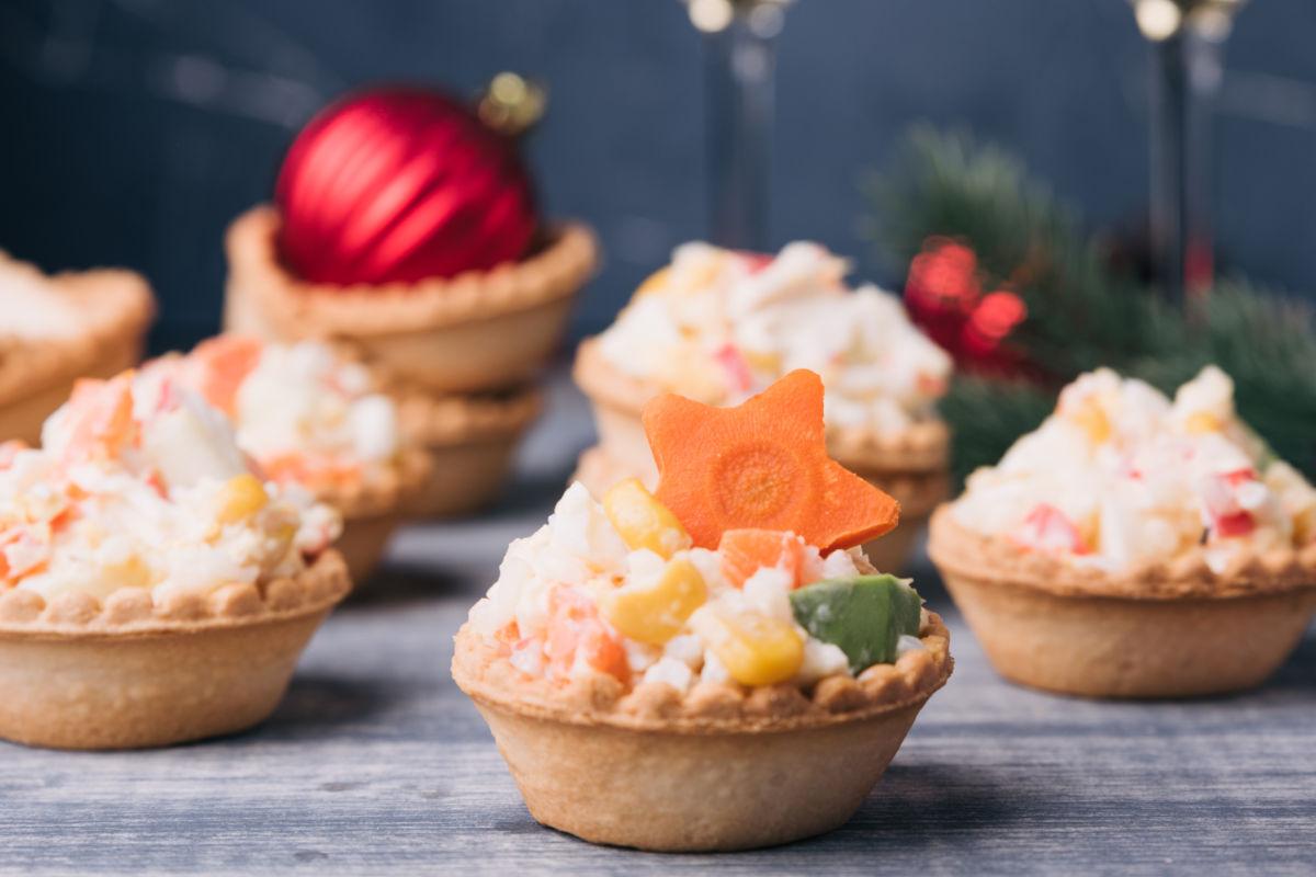 tartine per l'antipasto di Natale
