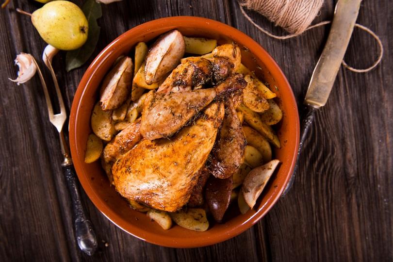 Pollo con pere