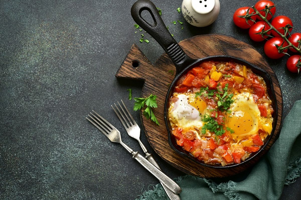 Uova strapazzate con peperoni
