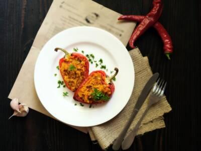 Peperoni ripieni vegetariani: la ricetta con le lenticchie