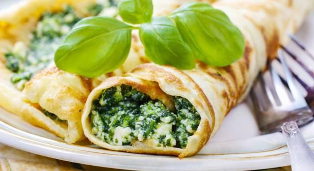 Crespelle ripiene di spinaci e ricotta: una vera bontà!