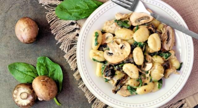 Gnocchi all'acqua con funghi e pecorino: un ottimo primo piatto!