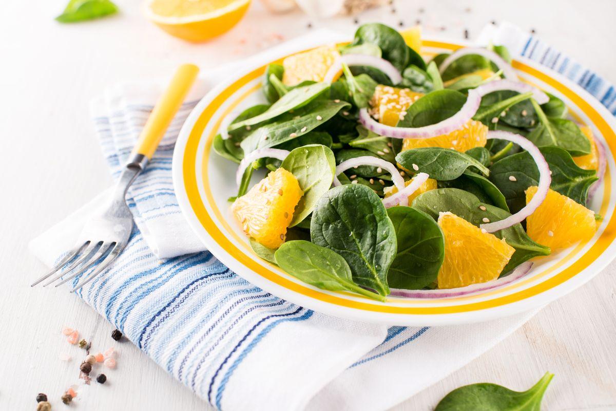 insalata di spinaci e arance