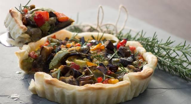 Ecco come preparare un'ottima torta salata vegana con verdure