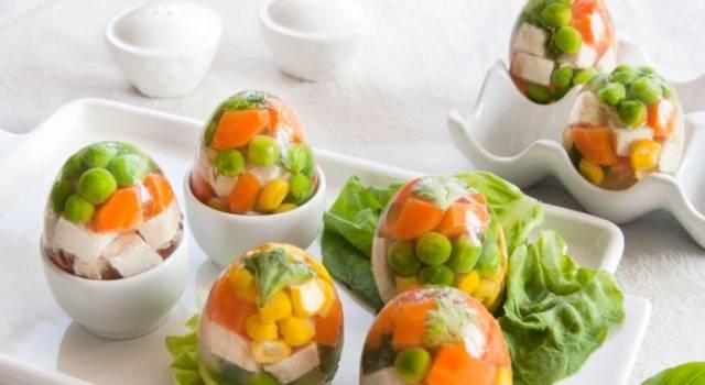 Un piatto che sa di… anni '80: l'aspic di verdure