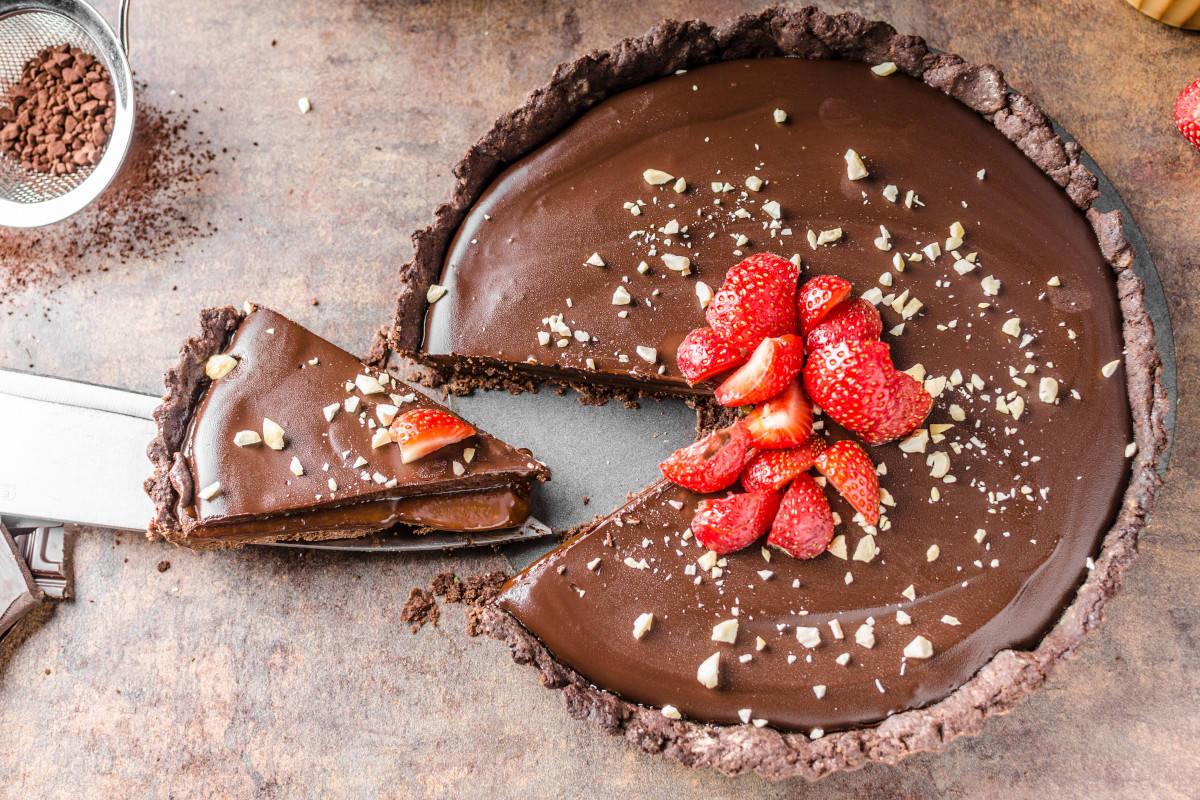 Crostata al cioccolato vegana