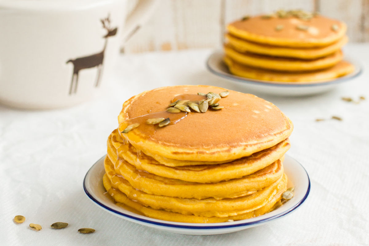 pancake alla zucca di Una mamma per amica