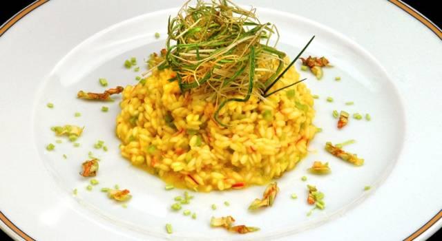 Sfizioso risotto con fiori di zucca