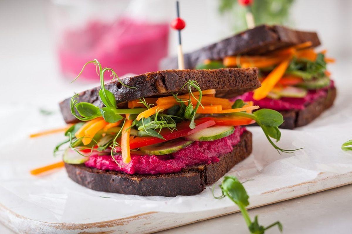 Sandwich vegano