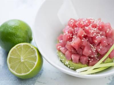Tartare di tonno rosso al lime e arancia