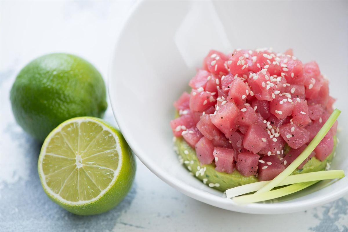 tartare di tonno e lime