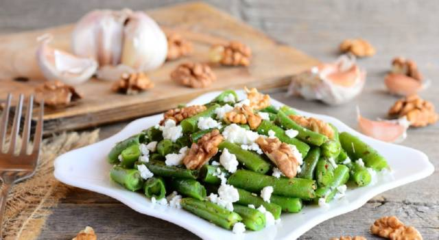 Pronta in 10 minuti, semplice e veloce: questa insalata di fagiolini vi stupirà!
