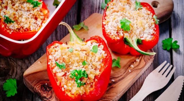 Peperoni ripieni (vegan) al forno: favolosi!