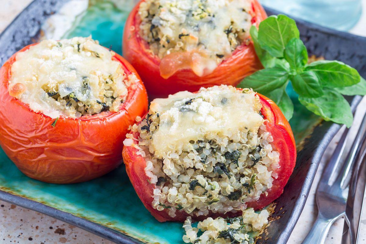 Pomodori ripieni di quinoa e spinaci