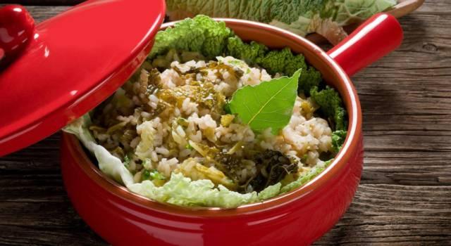 Riso con lattuga cotta: un primo piatto molto particolare!