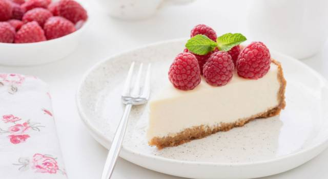 Cheesecake allo yogurt, una torta fredda deliziosa