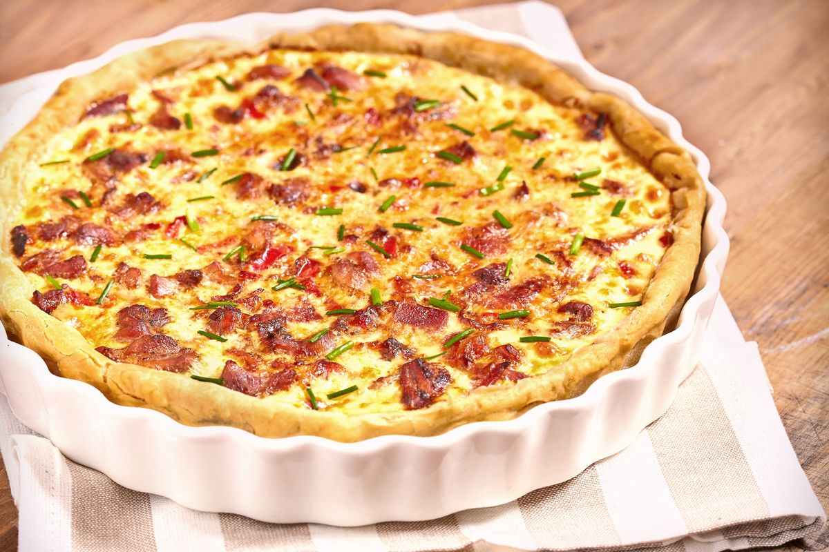 torta salata con patate e pomodori secchi