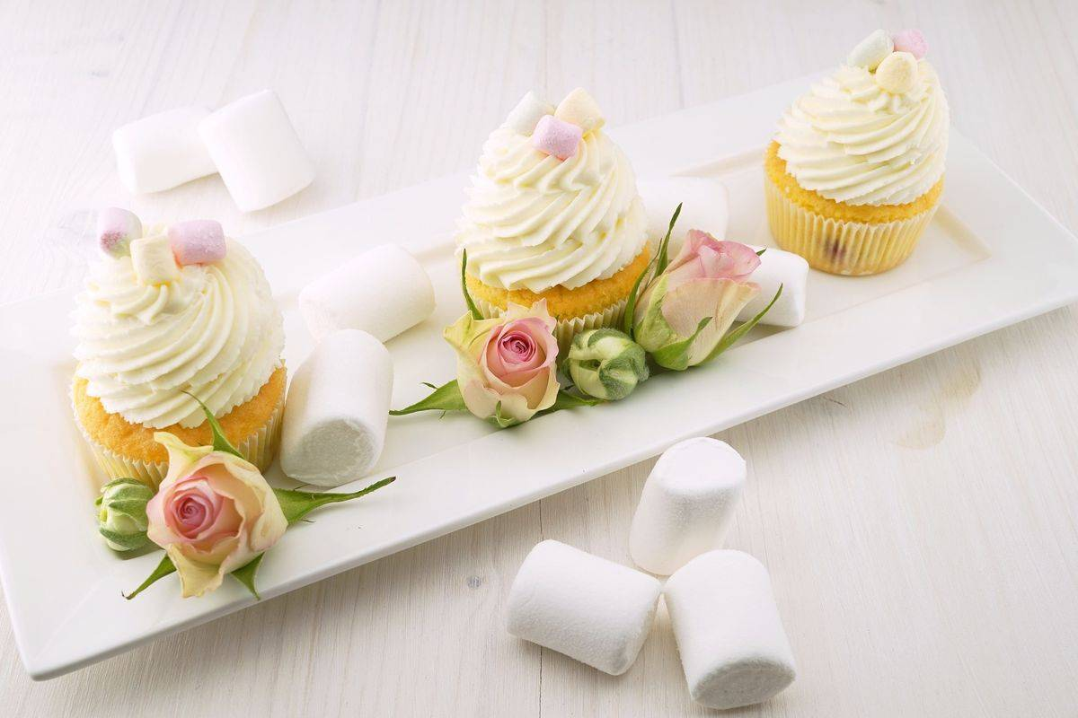 Cupcake con marshmallows