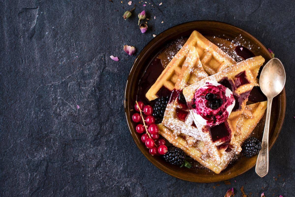 Waffle ai frutti di bosco