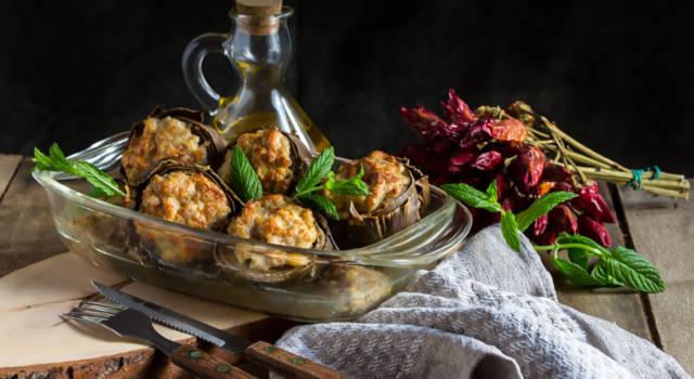 Carciofi farciti con carne aromatizzata al tartufo: irresistibili!