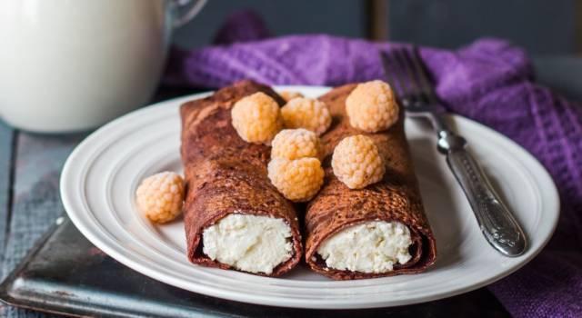 Necci: la ricetta originale toscana con farina di castagne e crema di ricotta