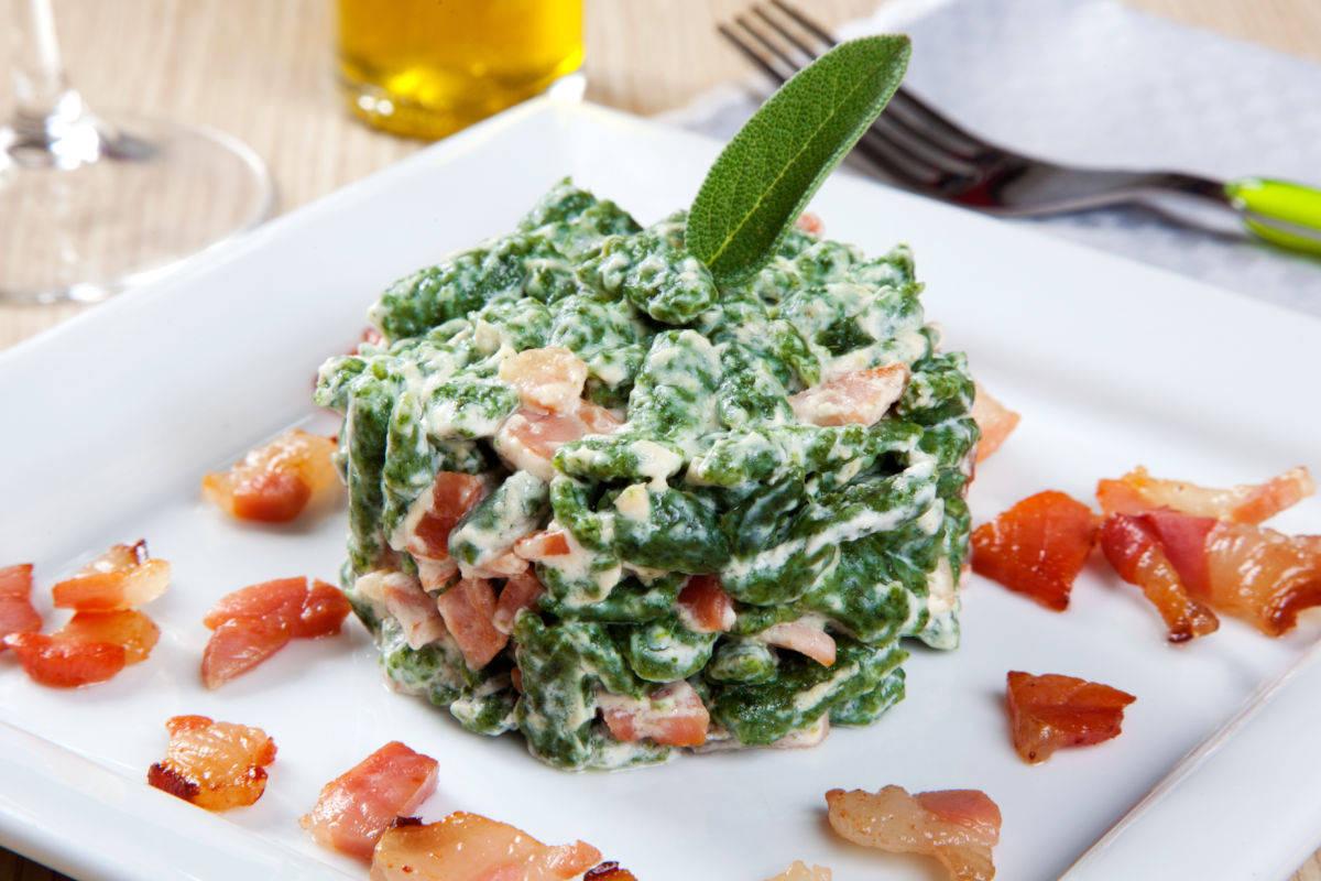 Spatzle agli spinaci