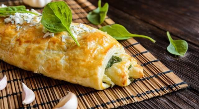 Che cosa cucino oggi? Ecco a voi lo strudel salato alle melanzane e formaggio!