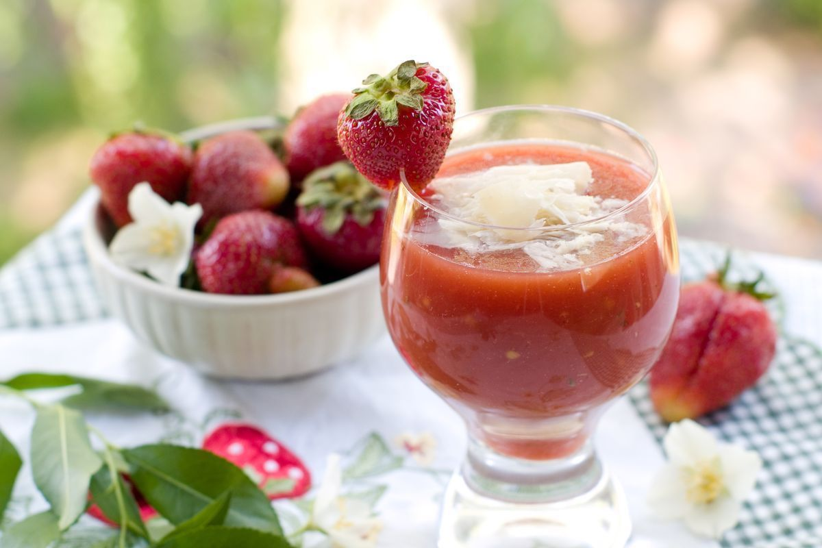 gazpacho di fragole