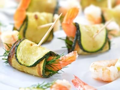 Involtini di zucchine grigliate e gamberi: semplicemente favolosi!