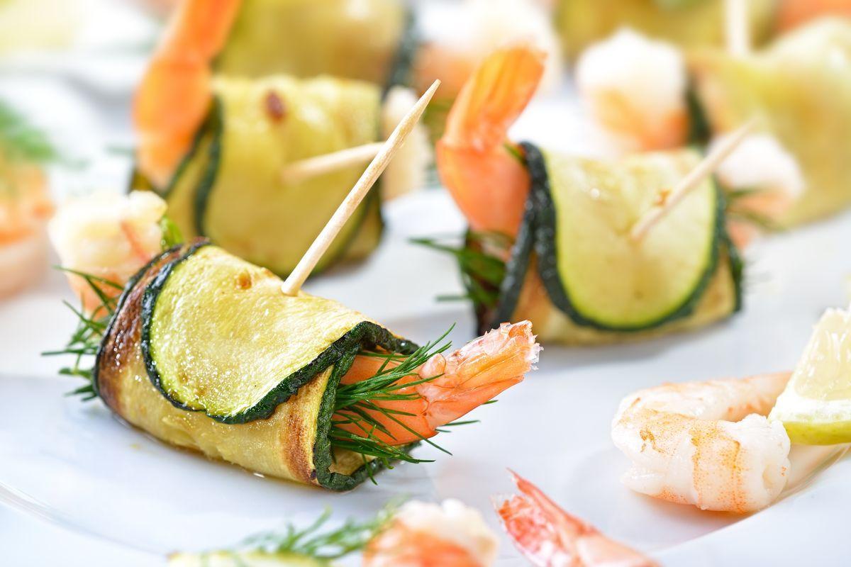 Involtini zucchine e gamberi