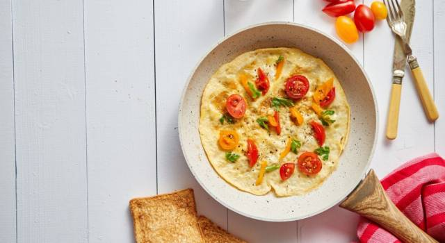 Omelette di albumi con verdure: un piatto salutare e facile da preparare